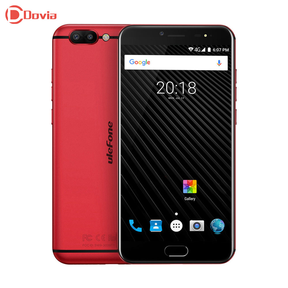 Ulefone T1 Android 7.0 5.5 Inch Helio P25 Octa Core 6GB RAM 64 GB ROM 16MP+5MP Dual Rear Cameras Type-C Front Touch Sensor Phone