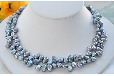 33af06f3bef4 Real 2 strands 10 mm negro KESHI REBORN perla 17 pulgadas Z5754 fábrica  precio venta al