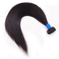 By1bundle Virgin Remy Hair Weft Unprocessed Brazilian Raw Hair Straight Weaving Hair For Salon Hair Extensions