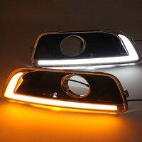 SUNKIA 2Pcs/Set LED Daytime Running Light DRL For Chevrolet Malibu 2012 2013 2014 With Turning Signal Fog Lamp Modify