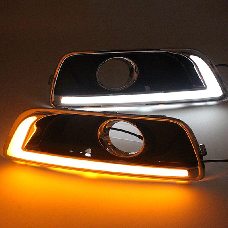 SUNKIA 2Pcs/Set LED Daytime Running Light DRL For Chevrolet Malibu 2012 2013 2014 With T ...