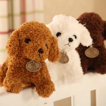 20CM symulacja zwierząt Teddy Dog Lady wypchane zabawki lalki tanie tanio Miękkie i pluszowe Zwierzęta Pies Pp bawełna Pluszowe nano doll no fire Tv movie postaci 3 lat Unisex Rongzou COTTON