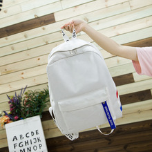 Preppy Style Soft Fabric Backpack Female Ladies Design School For Teenage Girls Striped Women