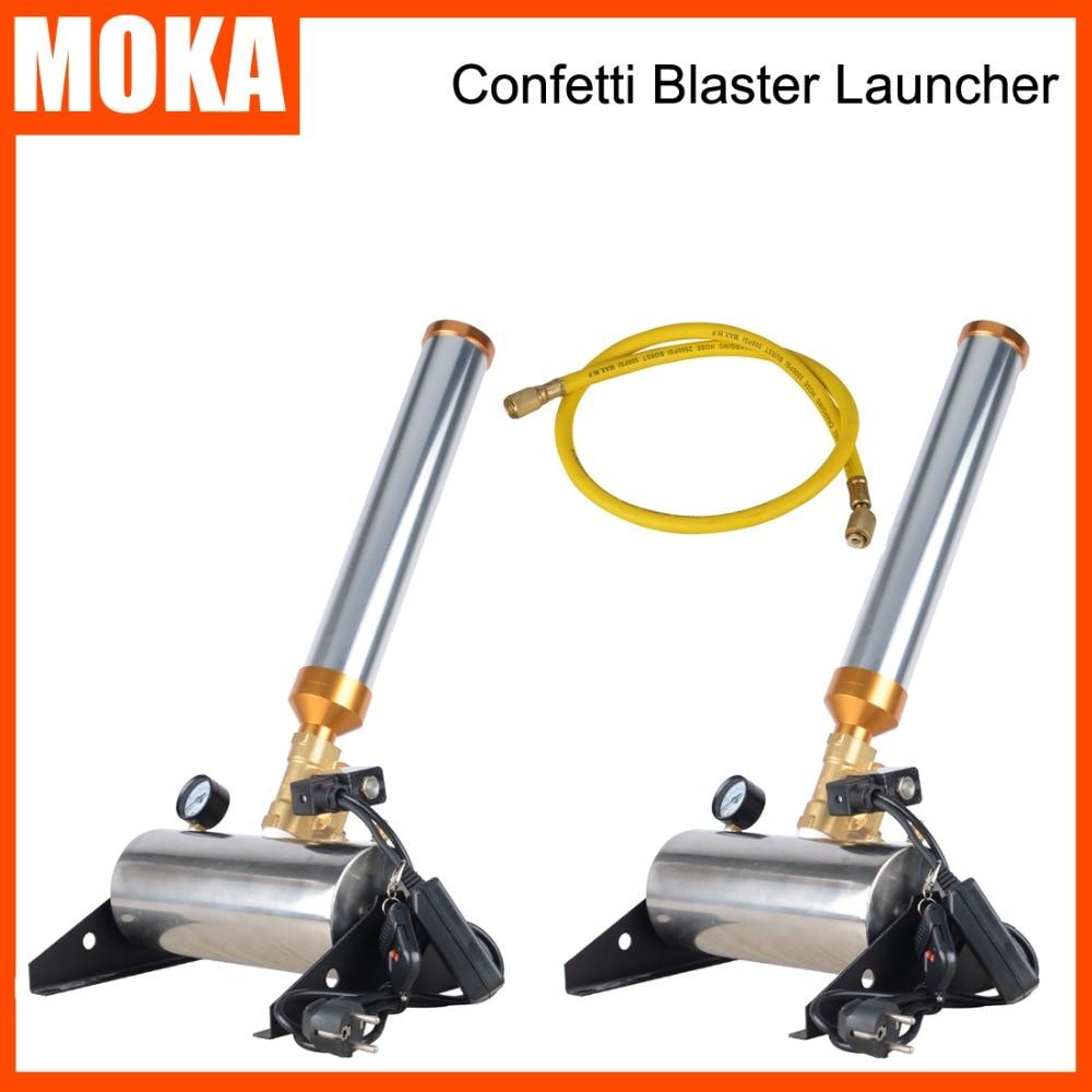 2Pcs/Lot Confetti Streamer Cannon Effect Machine Colour Paper Confetti Blaster remote control for Weeding,Event недорого