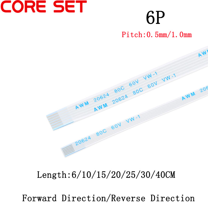 FFC//FPC Flexible Flat Cable Ribbon Pitch 0.5//1mm 10 8 6 4Pin 6-40cm 80C 60V VW-1