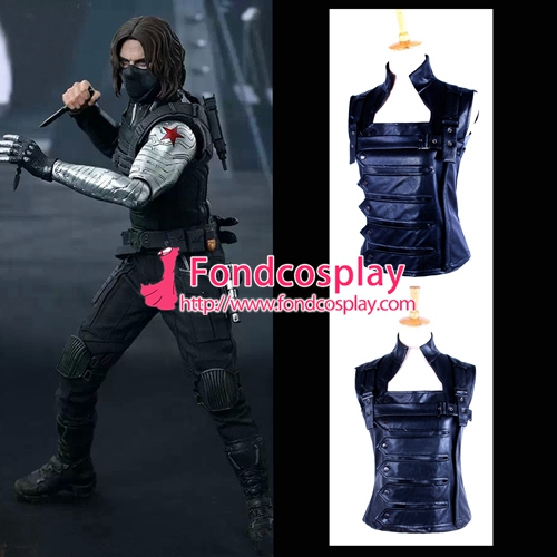 Captain America The Winter Soldier James Jacket Coat Outfit Vest Cosplay Costume Tailor-made movie captain america the winter soldier black widow cosplay costume custom made any size