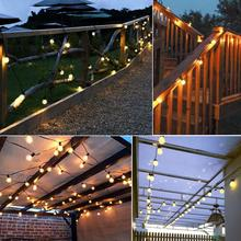 5M 20 Bulbs LED String Lights Outdoor Garden Solar Power Operated Waterproof Ball String Wedding Party Garland Decor LED Lamp