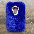 Novo 2016 luxo bling pele de coelho case para lg g flex 2 ls996 5.5 'back coque capa capa senhora inverno peludo rosa telefone case + presente