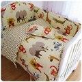 5 Pçs/set das Crianças Roupa de Cama, baby bedding set bumpers folha de cama no berço, Kit berço Bumpers Para Berço, 24 Padrão Dos Desenhos Animados