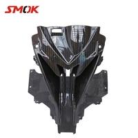 SMOK для BMW S1000RR S 1000 RR 2015 2018 Мотоцикл углеродного волокна передних нос капотом воздухозаборника полный комплекты обтекателей охватывает