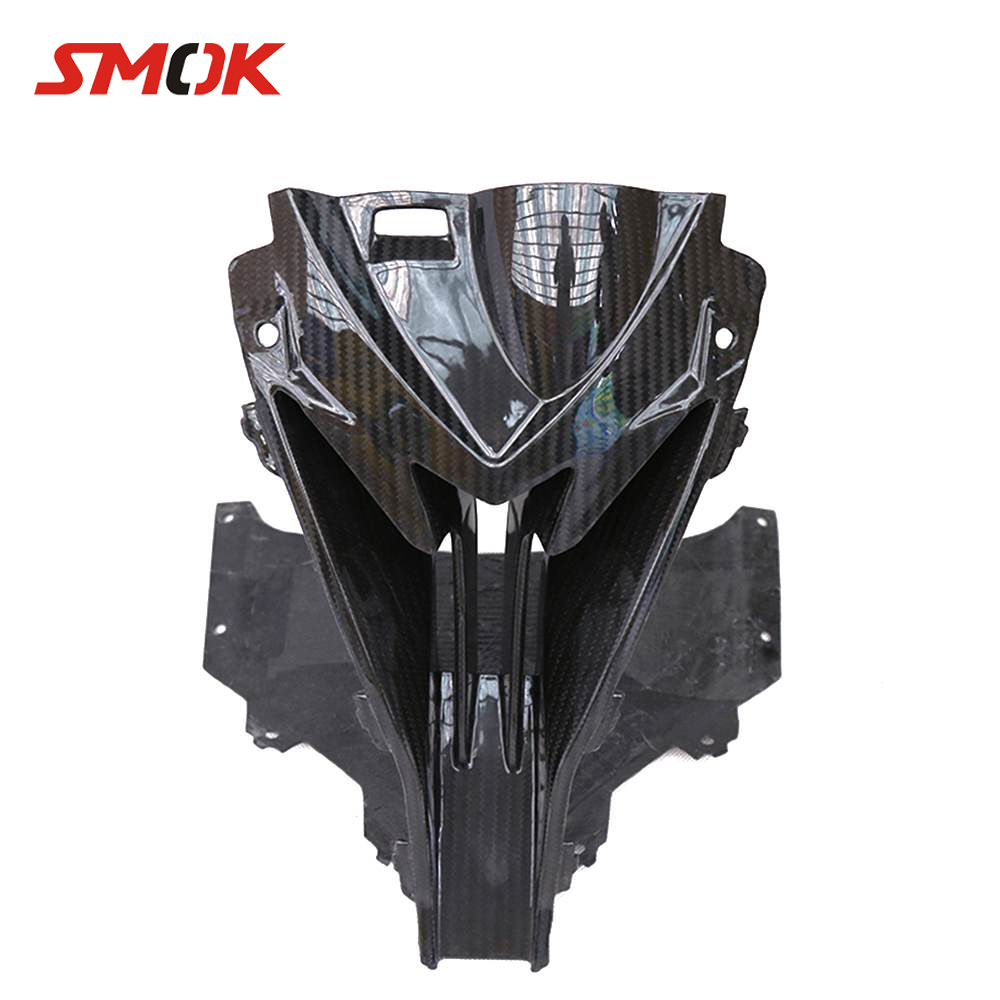 SMOK For <font><b>BMW</b></font> <font><b>S1000RR</b></font> S 1000 RR 2015-2018 Motorcycle <font><b>Carbon</b></font> <font><b>Fiber</b></font> Front Head Nose Cowl Air Intake Full Fairing Kits Covers image