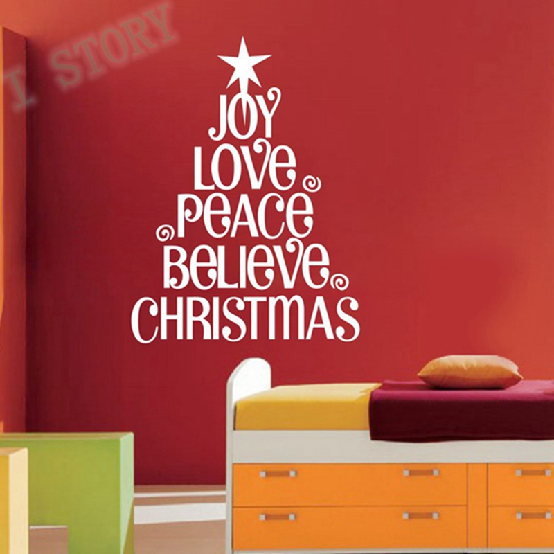 christmas vinyl words lettering christmas home decor decal stickers free shippingin wall stickers from home u0026 garden on alibaba group