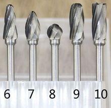 цена на Tungsten Carbide Grinding Head Coarse Rotary File Rotary Burrs Bur DIY Wood Cutter Carving Knife Milling Tool Rasping Woodwork