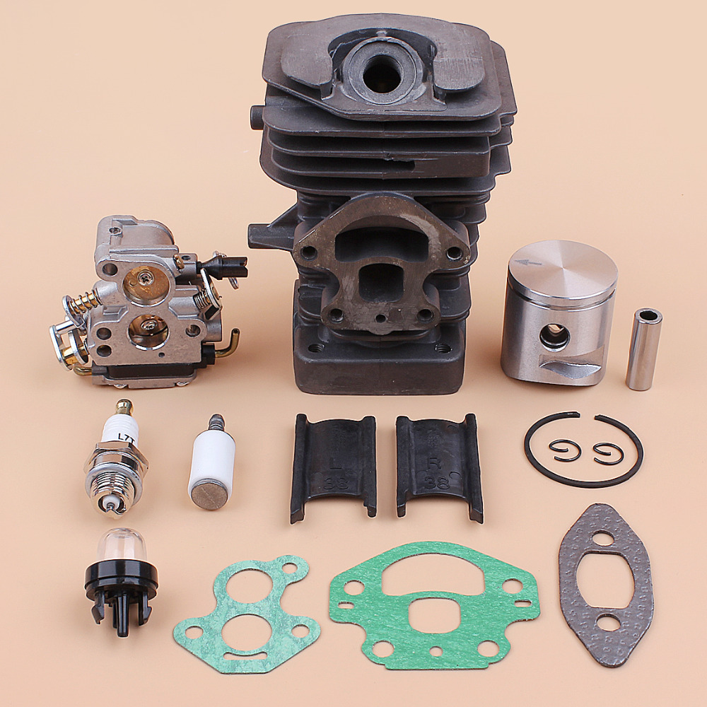 39mm Cylinder Piston Carburetor Gasket Engine Kit For Husqvarna 236 240 235 236e 240e Chainsaw Motor Replacement Parts 545050417