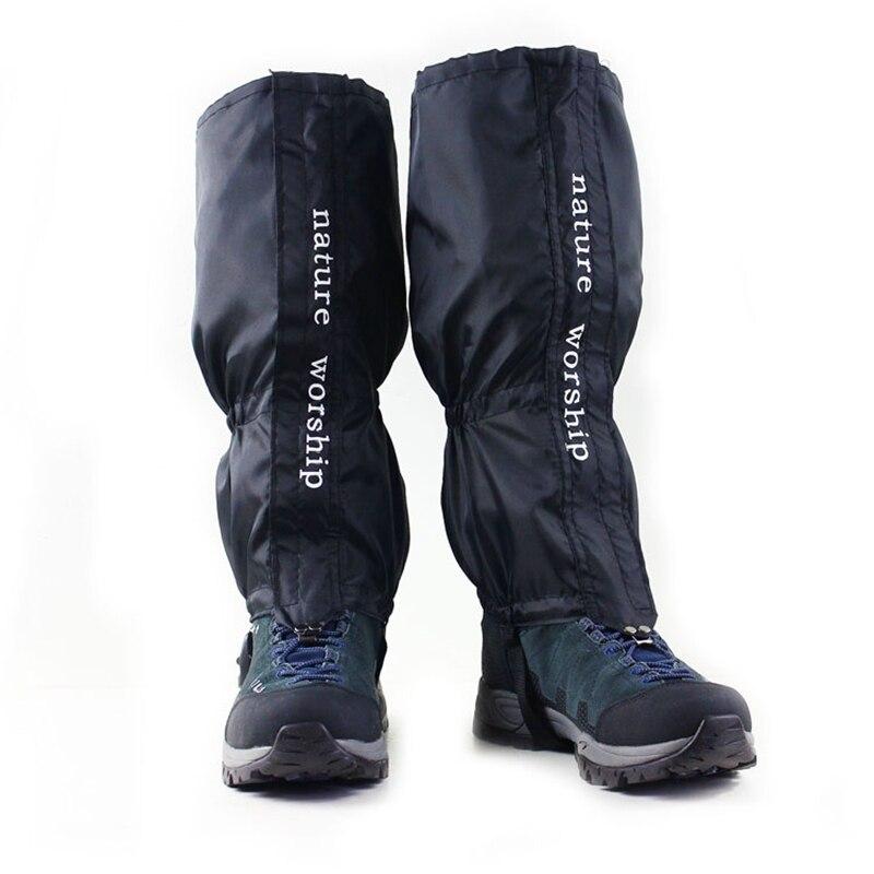 NUEVO 1 Par Impermeable Al Aire Libre Senderismo Caminar Escalada Caza Nieve Legging Polainas polainas de esquí