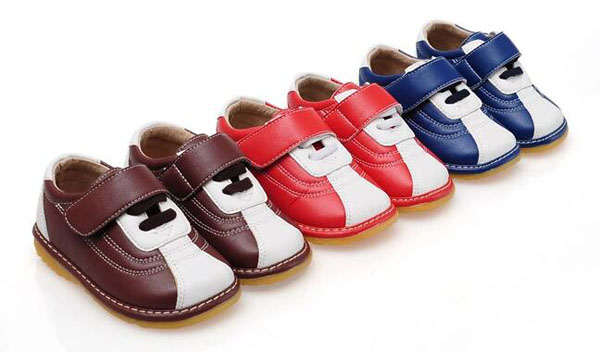 01e77cd581eb 2017 new boys squeaky shoes PU first walkers squeakers for kids 1-5 years  boutique squeak autumn chaussure baby girls shoes