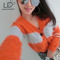 LOVELYDONKEYmink cashmere sweater women cashmere cardigan pure cashmere sweater mink fur coat free shipping M681