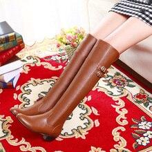 2014ฤดูใบไม้ร่วงฤดูหนาวเซ็กซี่ผู้หญิงรองเท้าบูทสูงบูทเข่าหญิงรองเท้าส้นสูงกันน้ำตารางอัศวินXY013