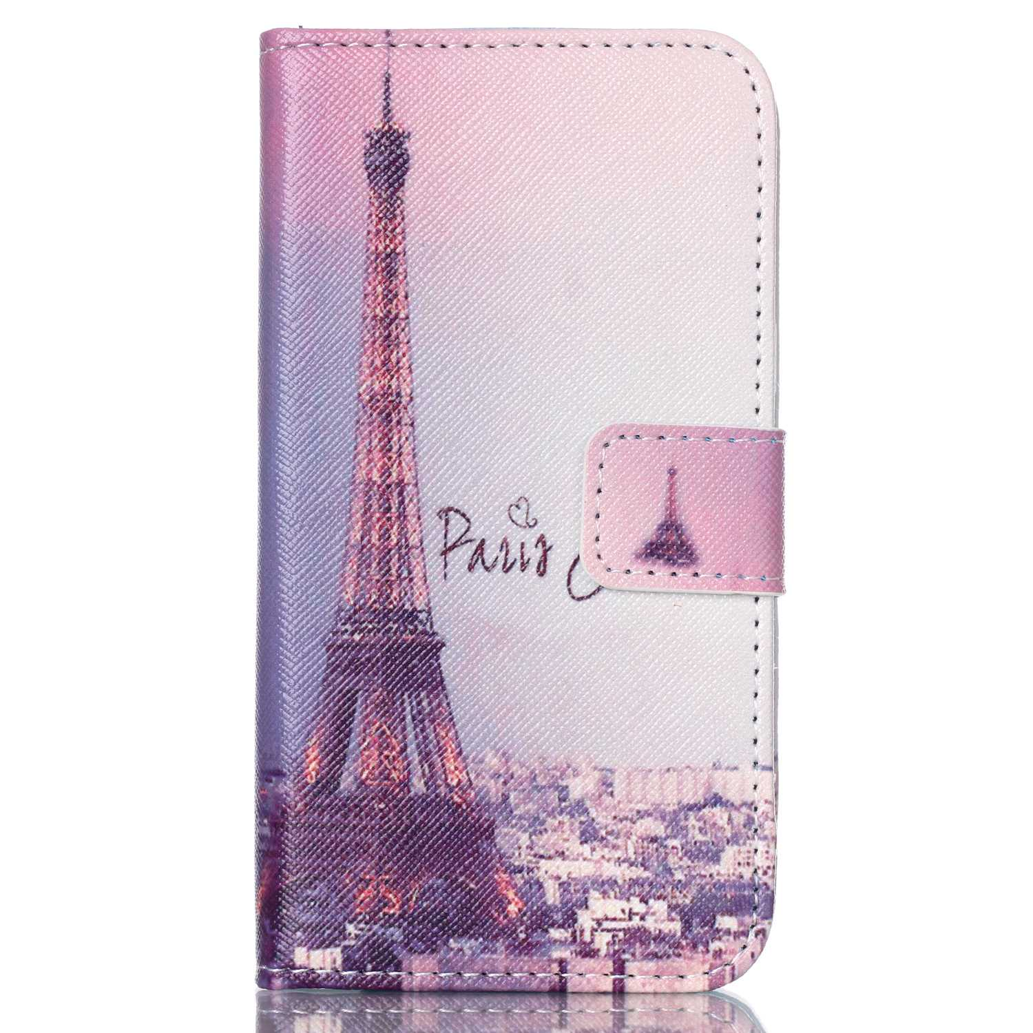 Luxury Painting cover case For Samsung Galaxy J1 J100 <font><b>J100H</b></font> J100F J1ace J2 PU Leather flip Wallet Stand design image