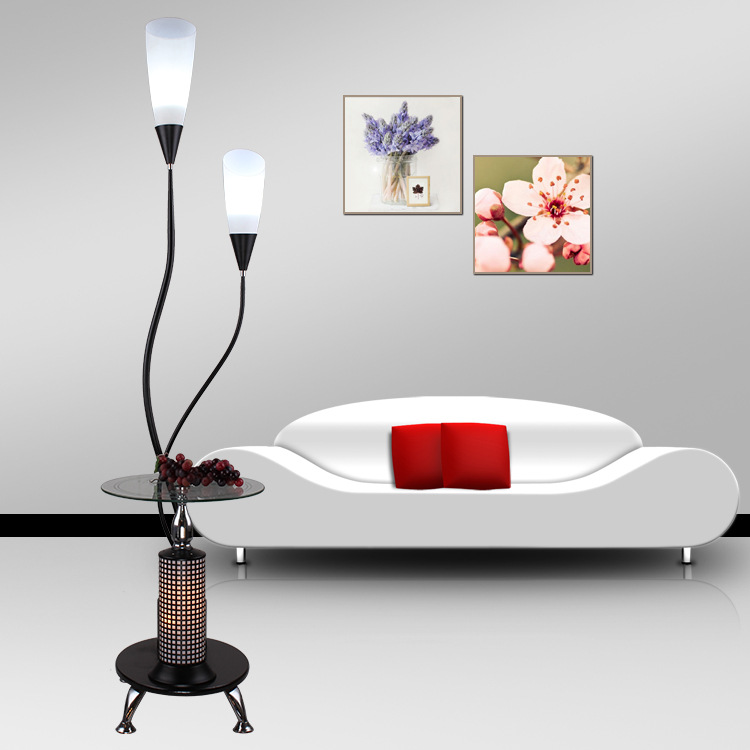 Living Room Lamp Shades: Modern Simple Coffee Table Led Floor Lamp Acrylic Shade