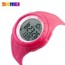 SKMEI חיצוני ספורט שעון נשים LED בריאות ספורט שעונים 5Bar עמיד למים גבירותיי שעוני יד מעורר כרונו שעון relogio 1108