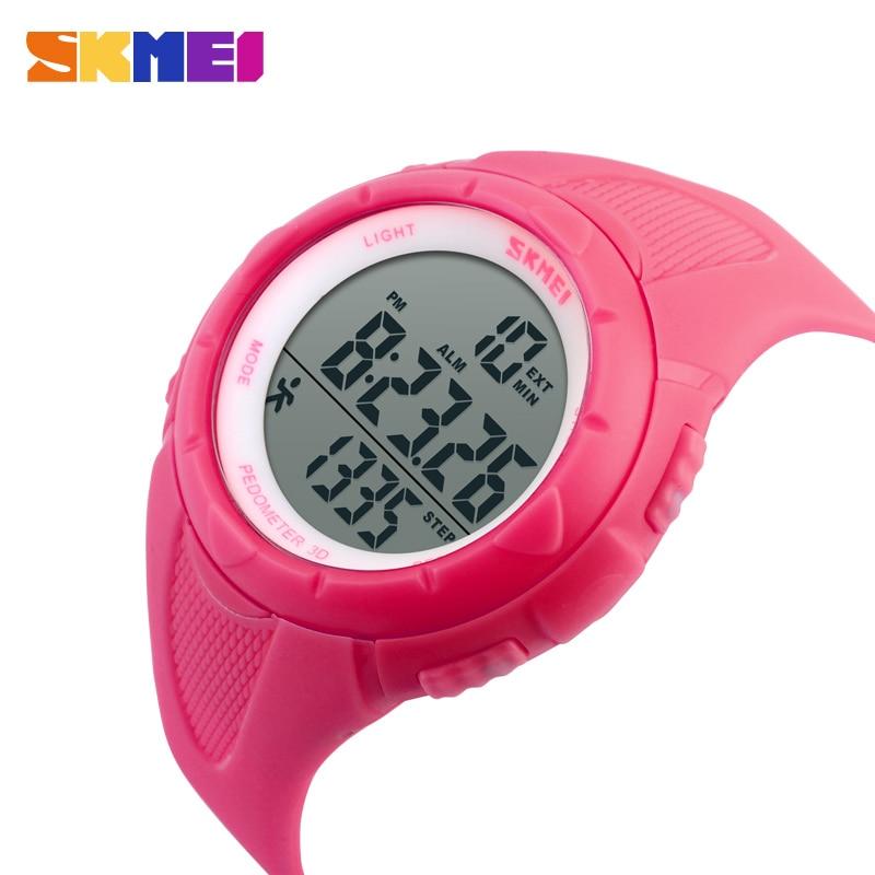 SKMEI Outdoor Sport 1108 Watch Women LED Health Sports Watches 5Bar Waterproof Ladies Wristwatch Alarm Chrono Relogio