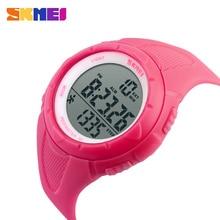 SKMEI reloj deportivo para mujer, LED, para la salud, resistente al agua, cronógrafo con alarma, 1108