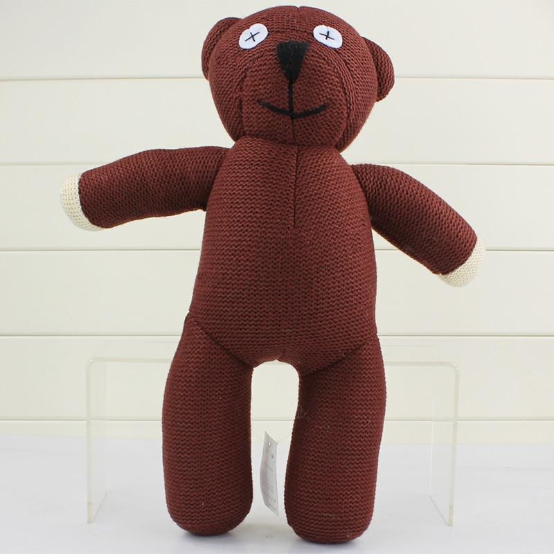 35 см большой Размеры Мистер Бин Мишка животных шерсть куклы Коричневый рисунок куклы для детей подарок бесплатная доставка
