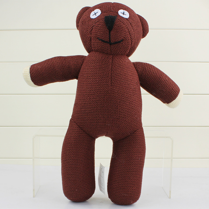 35cm Big Size Mr Bean Teddy Bear Animal Wool Doll Toy Brown Figure Doll For Kids Gift Free Shipping retail 1 piece 9 23cm mr bean bear teddy doll animal stuffed plush toys brown figure kid christmas birthday gift