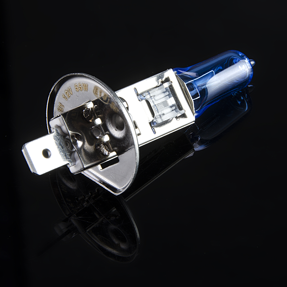 Flytop 12V 55W H1 Xenon Dark Blue 1700Lm 5000K Quartz Glass Super White Car HeadLight Bulb Halogen Light Lamp FREE SHIPPING