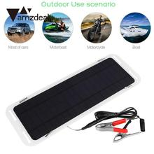 amzdeal 18V 5W Portable Car Boat Solar Powered Panel Battery Backup Charger Outdoor Travelling Powerbank DIY Cell Module Gift
