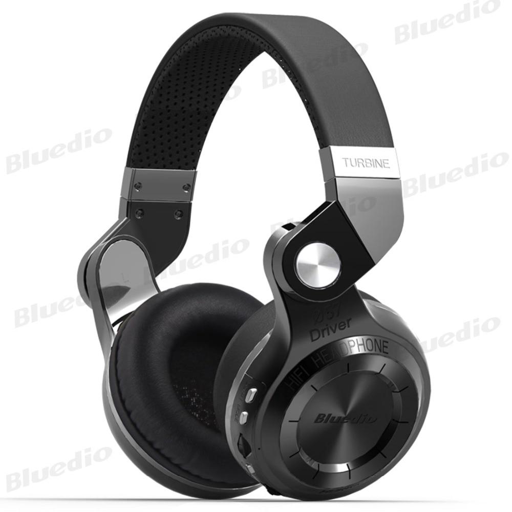 Orignal Bluedio T2 Plus casque sans fil Bluetooth MP3 casque Bluetooth stéréo HIFI musique sport jeu casque prend en charge FM TF