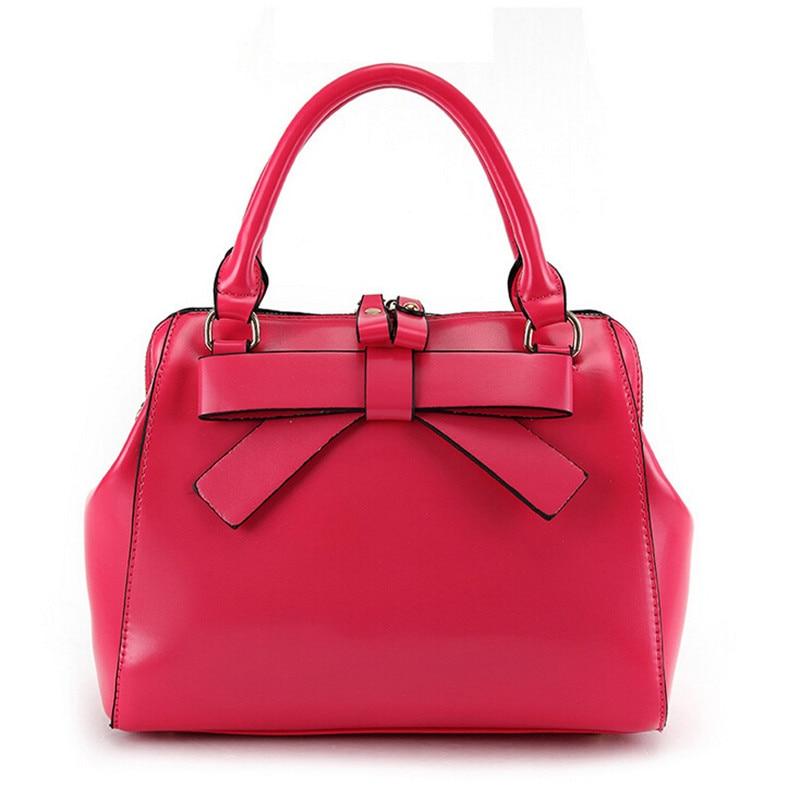 ФОТО Sac A Main Femme De Marque PU Leather Handbag Women Handbag Messenger Shoulder Bag BOW Bolsas Femininas