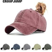 Женская Бейсболка с конским хвостом, хлопковая удобная летняя кепка для отдыха, Повседневная Спортивная Кепка s, Прямая поставка, регулируемая