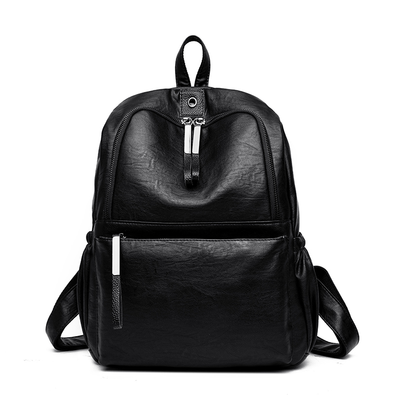 Solid High Quality PU Leather Backpack Women Designer School Bags For Teenagers Girls Luxury Women Backpacks Mochila Feminina fashion women leather backpack rucksack travel school bag shoulder bags satchel girls mochila feminina school bags for teenagers