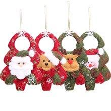 20pcs Xmas Tree Pendant Santa Claus Snowman Elk Bear Christmas Ornaments New Year Party Accessories XMAS Home Decor