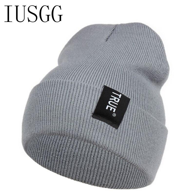 Letter TRUE Pattern Eroupean Style Skullies Beanies Women Warm Hat Knit Female Cap Men Winter Hat For Women Beanie Warm Unisex skullies