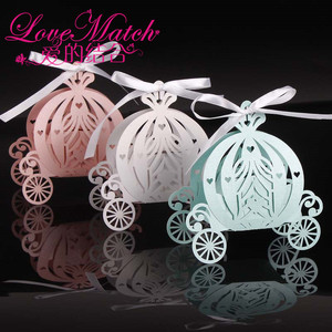 Image 2 - 2020 50Pcs לייזר לחתוך דלעת תובלה חתונת סוכריות תיבה טובה, פרל צבע נייר סוכריות קופסא, תינוק מקלחת מתנת יום הולדת