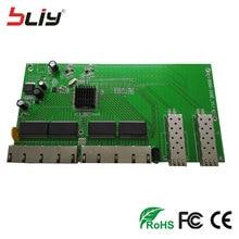 Reverso POE optical fiber switch board with 2 SFP + 8 10/100/1000Mbps RJ45 Ethernet ports reverse media converter