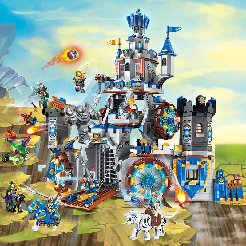 Enlighten Glory War Educational Building Blocks Toys For Children Gift Castle Knight Super Heroes Weapon Elf enlighten new 2315 656pcs war of glory castle knights the sliver hawk castle 6 figures building block brick toys for children