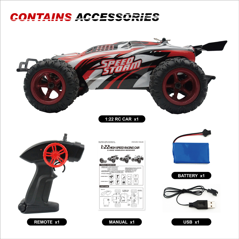 RC Car Radio Controlled Toys For Kids Boys Off Road Machine On The Remote Control Car Machines On The Qadio Car 1:22 2.4G 2WD