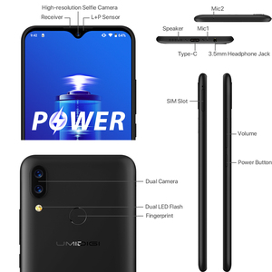 "Image 3 - Umidigi Power 5150 Mah 18W Snelle Lading Android 9.0 4 Gb 64 Gb 6.3 ""Fhd + Global Versie smartphone Dual Helio P35 2.3GH Dual 4G 16MP"