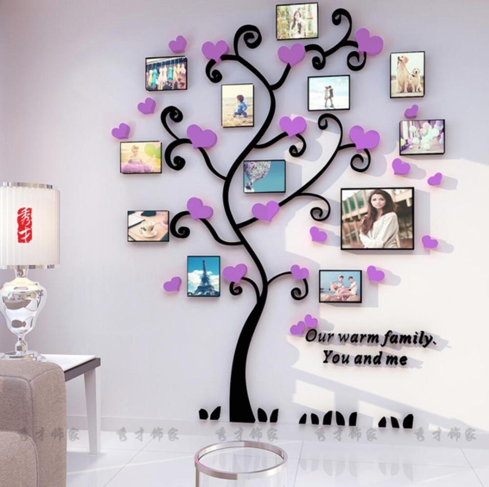 Yaradıcı Uşaqlar DIY 3D Etiket Romantik Sevgi Ağacı Şəkil - Ev dekoru - Fotoqrafiya 2