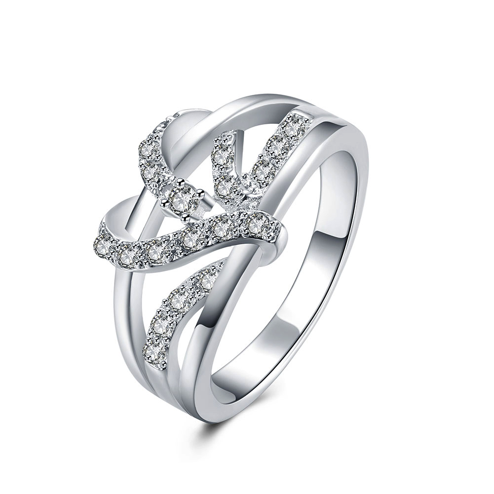 Inalis Top Quality Engagement Rings For Women Lovers' Gift Silver Color  Fashion Jewelry Wedding Charms