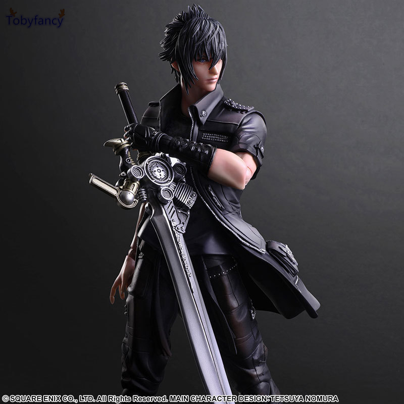 Tobyfancy Final Fantasy XV Play Arts Kai Action Figure Noctis Lucis Caelum Collection Anime Model PVC Toys FF Playarts Kai 270MM final fantasy play arts kai action figure 250mm cloud sephiroth squall pvc anime toy collection model figurine play arts kai