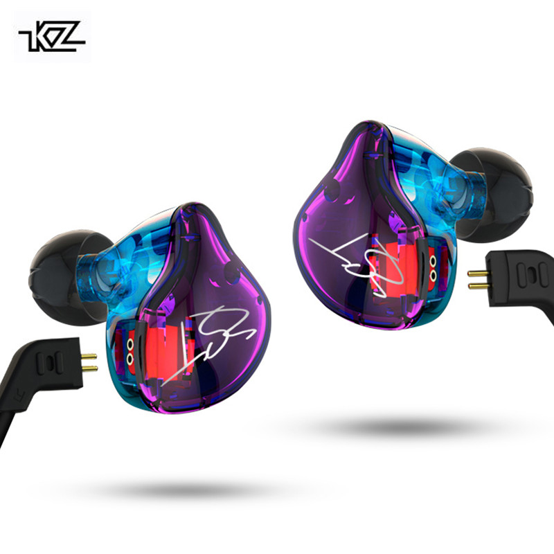 KZ ZST Pro ZSR Armature Dual Driver Earphone Detachable Cable In Ear Audio Monitors Noise Isolating HiFi Music Sports Earbuds
