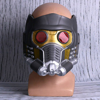 Movie Guardians of the Galaxy Star Lord Cosplay Masks Star Lord Peter Jason Quill Superhero Latex Helmets Props Halloween