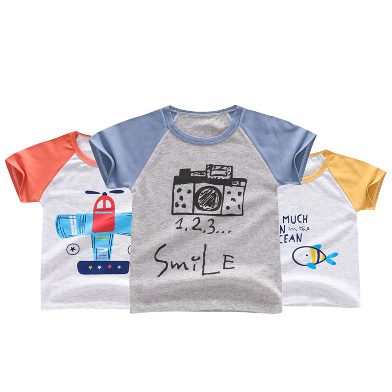 2018 New Summer Kids Cartoon T Shirts For Boys Girls Short Sleeve Fruit Tops 1-5Y Childr ...