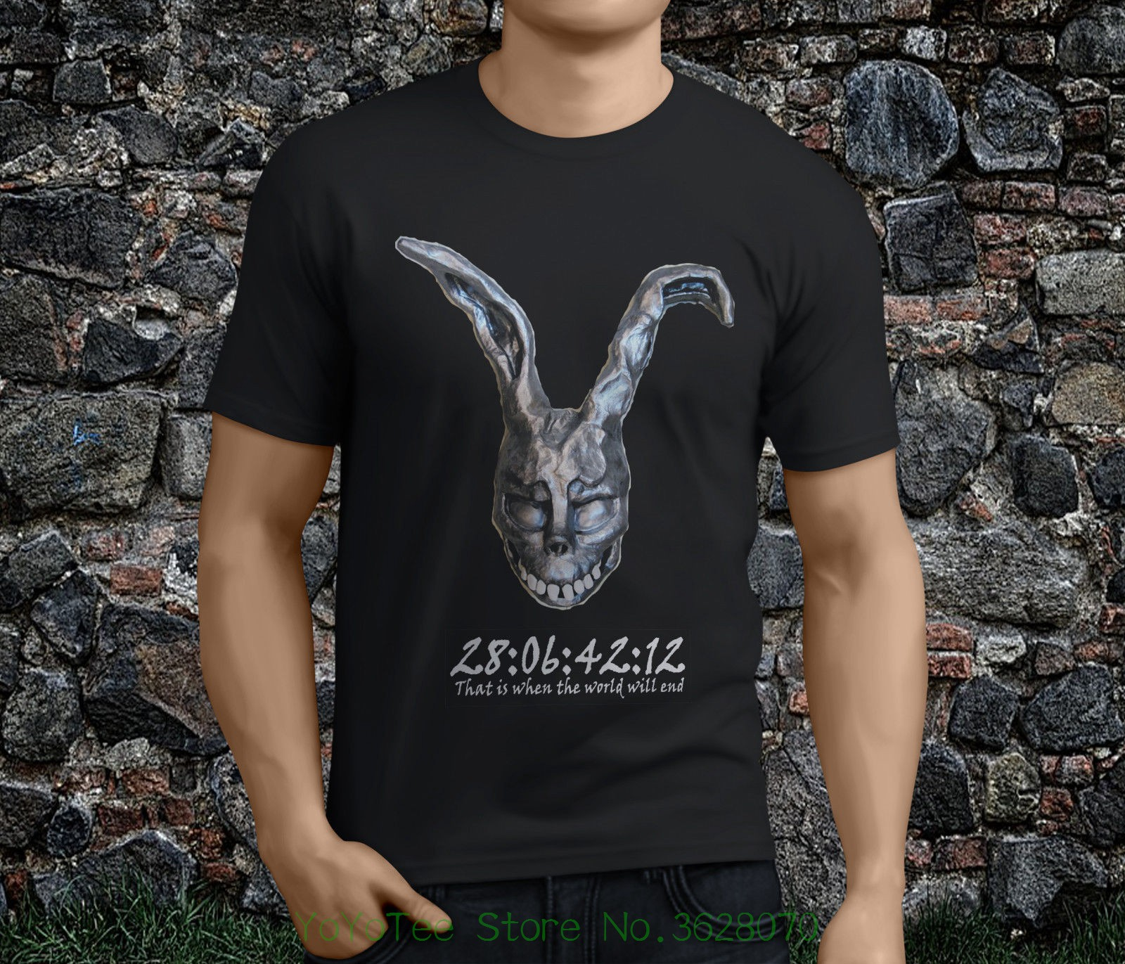 Fashion Men Printed T Shirts New Popular Donnie Darko Thriller Movie Black Men' ; S Tshirt S - 3xl image