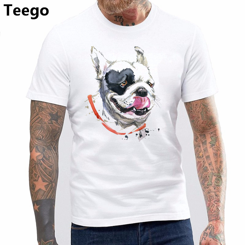 88da6510f New Men T Shirt Fashion Short Sleeves Cotton T Shirt Darth Frenchy Men's  Movie French Bulldog